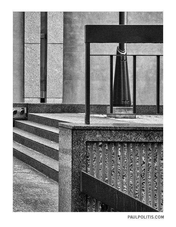 Courtyard Abstract - black and white photograph