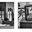 Deconstruction Diptych (black and white photography)