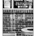 Take Out Parking (black and white photograph)