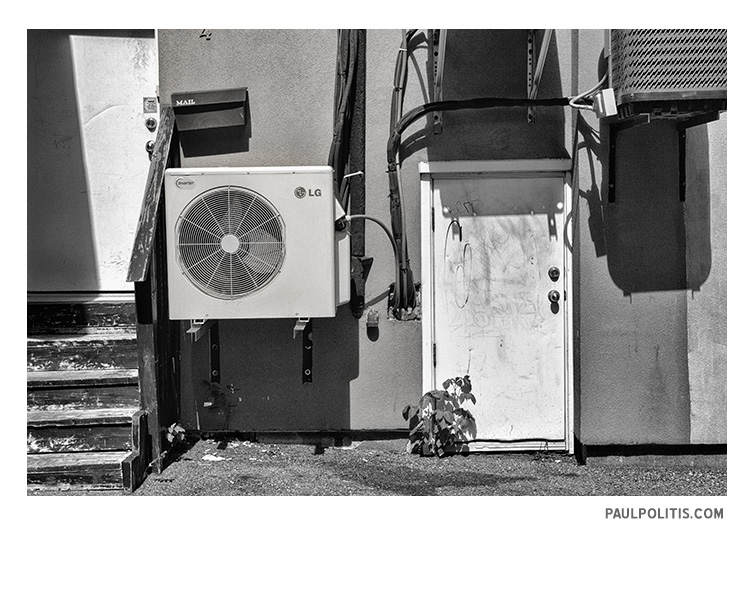 Alley (black and white photograph by Paul Poilitis)
