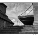 Untitled (Architecture Geometry) (black and white photograph)