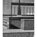 Courtyard Abstract Revisited (black and white photograph)