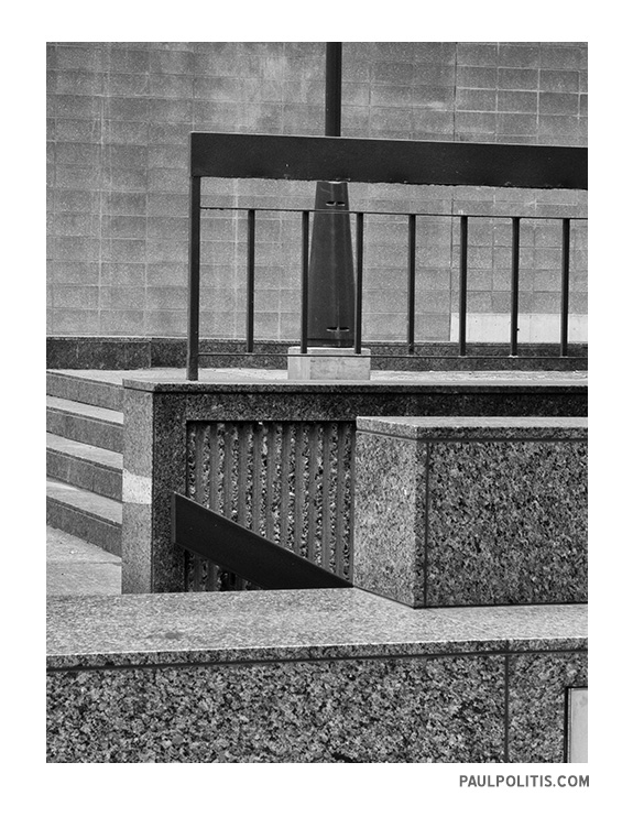 Courtyard Revisited (black and white photograph)