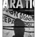 Shop Window Text (Self-shadow) (black and white photograph)