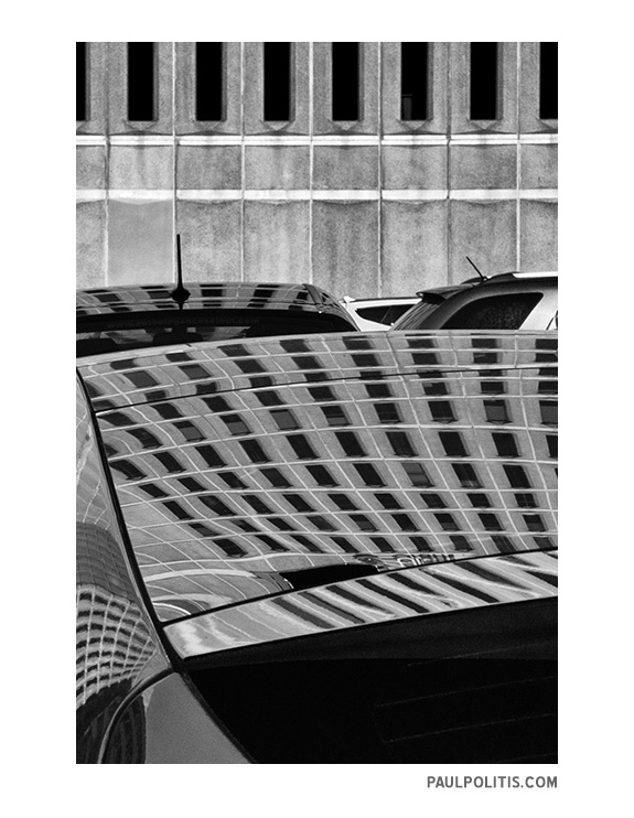 black and white urban abstract photograph