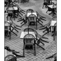 Place at the Table (black and white photograph)