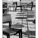 Chair Arrangement (black and white photograph)