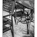 Chairs and Shadows (black and white photograph)