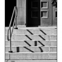 Church Steps (black and white photograph)