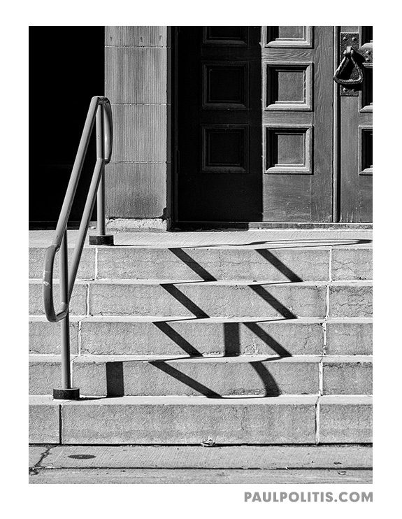 Church Steps (black and white photograph) by Paul Politis