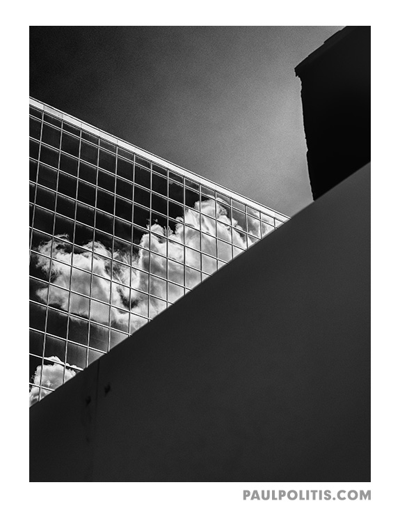 Ghost of the City (black and white photograph) by Paul Politis