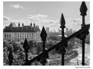 From Parliament Hill (black and white photograph)