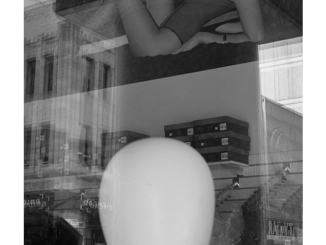 Mannequin Head, Adult Store (black and white photograph) by Paul Politis), 2020
