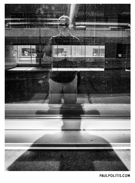 Me, Myself (black and white photograph) by Paul Politis