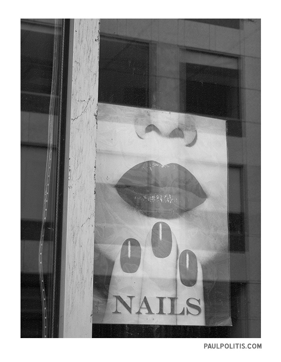 Nails (black and white photograph)