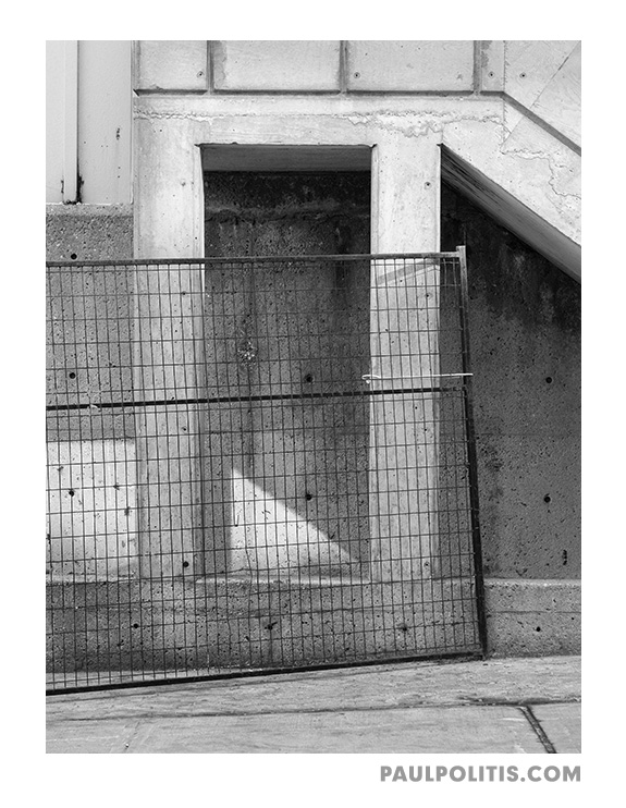 Overpass Repairs (black and white photograph)