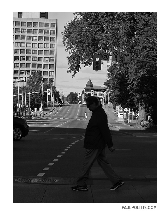 Pedestrian Dance (black and white photograph) by Paul Politis), 2020