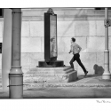 Running Man (black and white photograph)