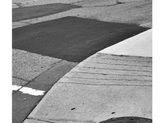 Street Abstract (P1230601) (black and white photograph)
