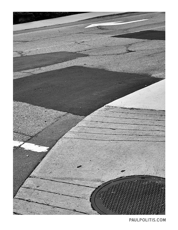 Street Abstract P1230601 (black and white photograph)