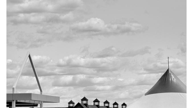 Triangle Landscape (black and white photograph)