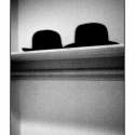 Two Hats (black and white photograph)