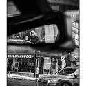 Passenger View (black and white photograph)