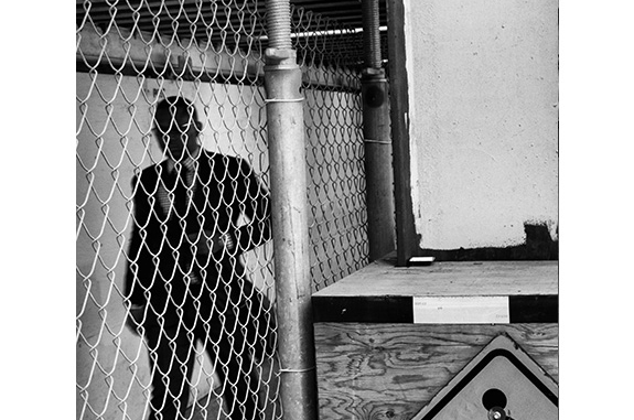 Urban Inmate P1040449 (black and white photograph)