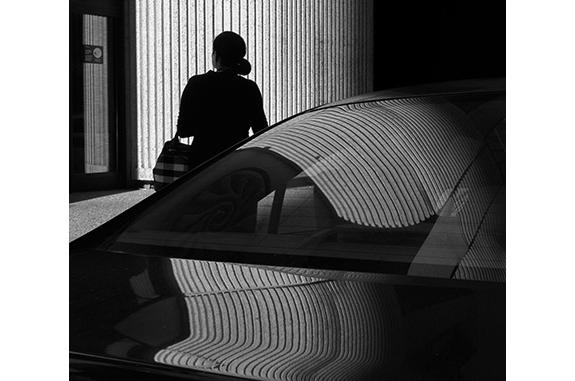 Urban Inmate P1110251 (black and white photograph)
